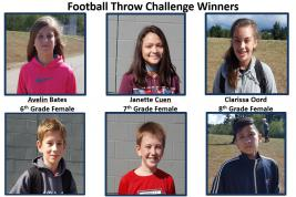 The winners of the 2017 Football Throw Competition